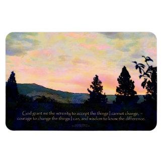 Serenity Prayer July Sky Sunrise Rectangular Photo Magnet