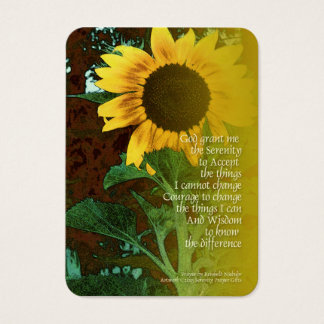 Serenity Prayer July Sunflower Business Card