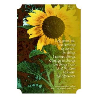 Serenity Prayer July Sunflower Card