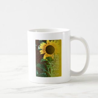 Serenity Prayer July Sunflower Coffee Mug