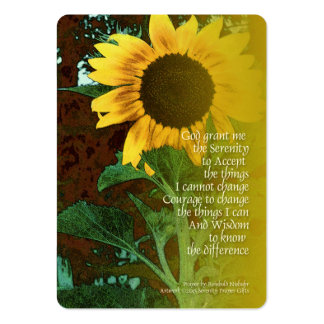 Serenity Prayer July Sunflower Large Business Card