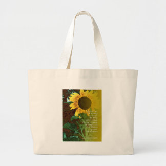 Serenity Prayer July Sunflower Large Tote Bag