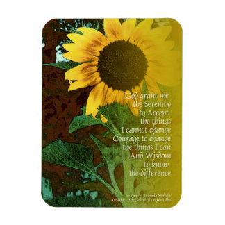 Serenity Prayer July Sunflower Rectangular Photo Magnet