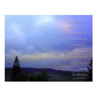Serenity Prayer June Daybreak Postcard