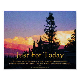 Serenity Prayer Just for Today Poster