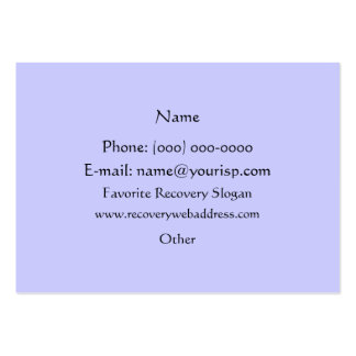 Serenity Prayer & Just for Today Profile Card Business Card Template