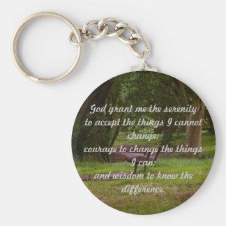Serenity Prayer Keychain