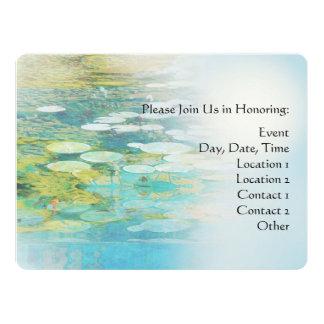 Serenity Prayer Koi Pond Blue Green Card