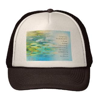Serenity Prayer Koi Pond Blue Green Trucker Hat