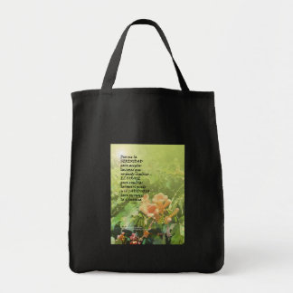 Serenity Prayer  La Oración de la Serenidad Tote Bag
