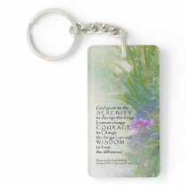 Serenity Prayer Late Summer Garden Keychain
