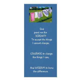 SERENITY PRAYER: LAUNDRY: ART, PAINTING RACK CARD