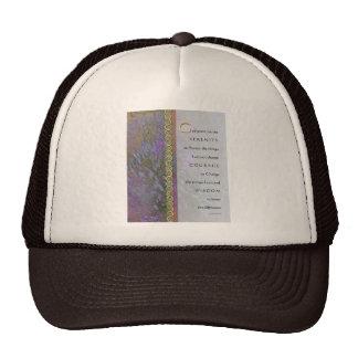 Serenity Prayer Lavender and Sweet Peas Trucker Hat