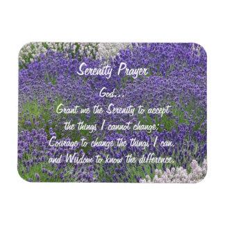 Serenity Prayer Lavender Garden Rectangular Photo Magnet