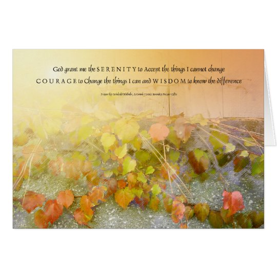 Serenity Prayer Leaves and Wall Card