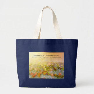 Serenity Prayer Leaves and Wall Large Tote Bag