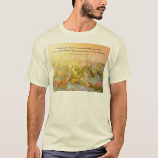 Serenity Prayer Leaves and Wall T-Shirt
