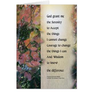 Serenity Prayer Leaves Panel Card