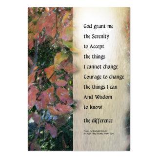 Serenity Prayer Leaves Panel Large Business Card