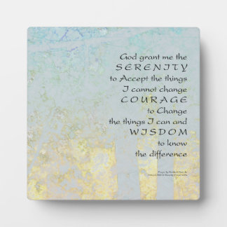 Serenity Prayer Light Blue Trees Display Plaques