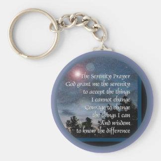 Serenity Prayer Light Night Basic Round Button Keychain