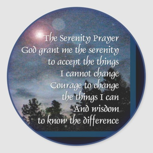 Serenity Prayer Light Night Sticker