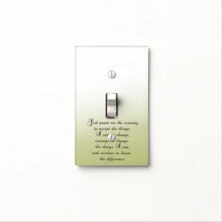 Serenity Prayer Light Switch Cover