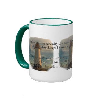 Serenity Prayer Lighthouse Ringer Coffee Mug