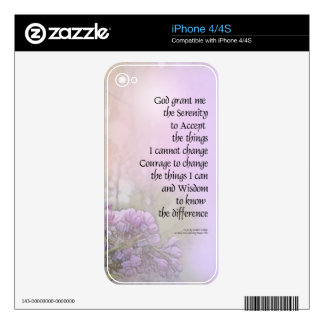 Serenity Prayer Lilac Decal For The iPhone 4