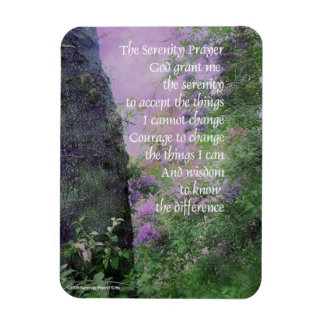 Serenity Prayer Lilacs and Trees Rectangular Photo Magnet