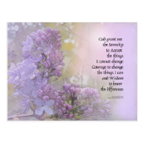 Serenity Prayer Lilacs Postcard