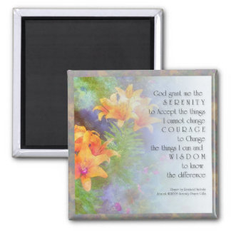 Serenity Prayer Lilies Magnet