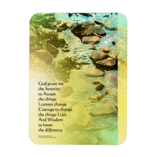 Serenity Prayer Little Creek Rectangular Photo Magnet