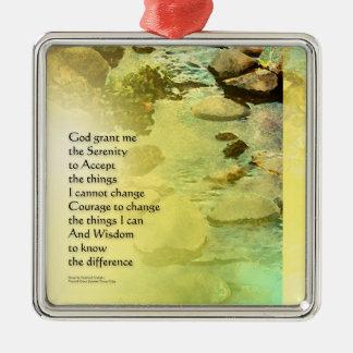 Serenity Prayer Little Creek Metal Ornament