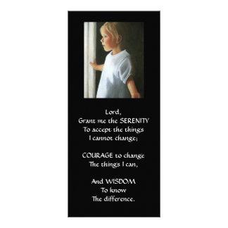 SERENITY PRAYER: LITTLE GIRL AT WINDOW: ART RACK CARD