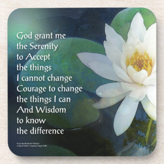 Serenity Prayer Lotus One Coaster