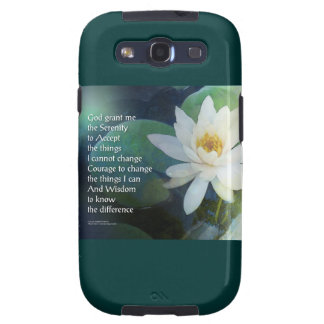 Serenity Prayer Lotus One Galaxy S3 Cases