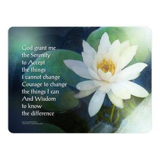 Serenity Prayer Lotus One 6.5x8.75 Paper Invitation Card