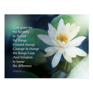 Serenity Prayer Lotus One Postcard