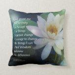 Serenity Prayer Lotus One Throw Pillows