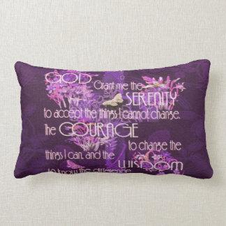 Serenity Prayer Lumbar Pillow