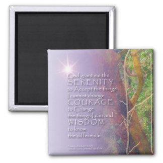 Serenity Prayer Madrone 2 Inch Square Magnet