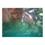 "Serenity Prayer Madrone Invitation 5"" X 7"" Invitation Card"