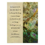 Serenity Prayer Madrone Leaves Print