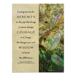 Serenity Prayer Madrone Leaves Print