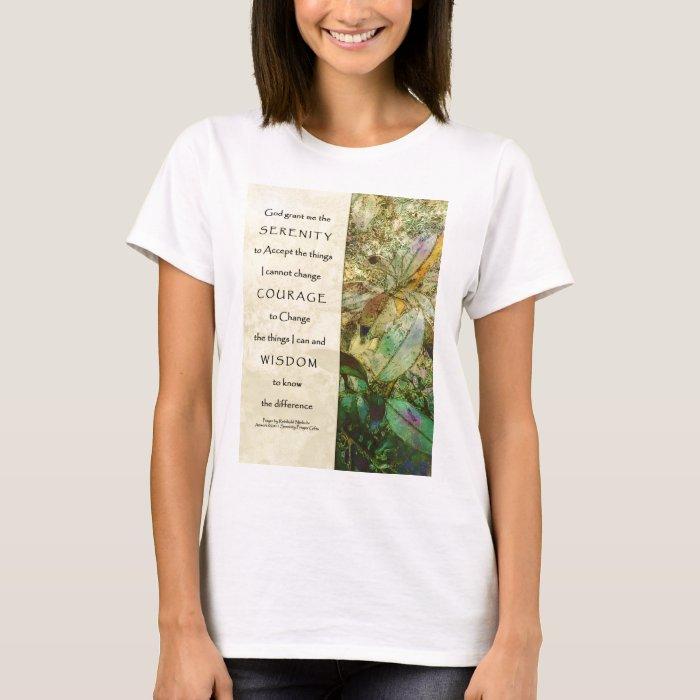 Serenity Prayer Madrone Leaves T-Shirt