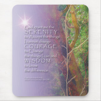 Serenity Prayer Madrone Mouse Pad
