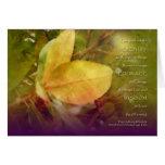 Serenity Prayer Magnolia Leaves Card