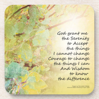 Serenity Prayer Manzanita Golden Beverage Coaster