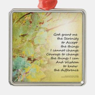 Serenity Prayer Manzanita Golden Metal Ornament